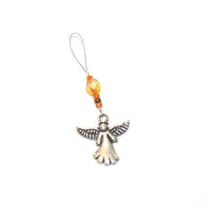 Handgefertigte Maschenmarkierer  Engel goldgelb