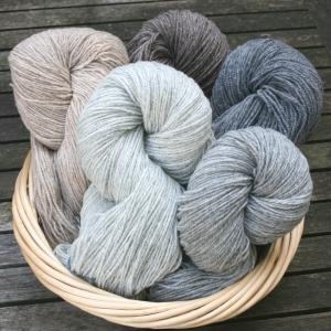 Grosse Wolle - Süddeutsche Merino DK naturfarbig (Farbe: Beige)