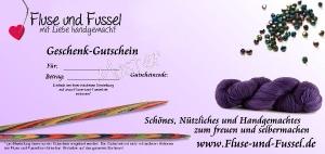 Fluse und Fussel Geschenk-Gutschein -damit schenken Sie Auswahl (Gutscheinwert: 10 Euro)