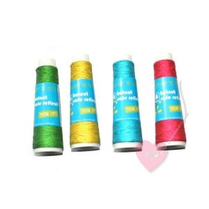 hatnut Safe reflect - floureszierendes Beilaufgarn FARBIG (Farbe: gelb)