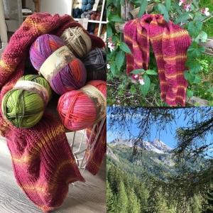 Ferner Wolle Lungauer Sockenwolle 8-fach (Farbe: Lila-Blau (379))
