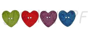 Jim Knopf - Keramik-Herz - 2-Loch Herzchenknopf 23mm (farbe: flieder)
