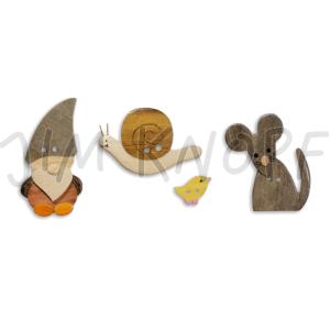 Jim Knopf - Gartenfreunde Knopf Zwerg, Schnecke oder Maus (Form: Schnecke Frieda)