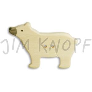 Jim Knopf - Holzknopf Eisbär