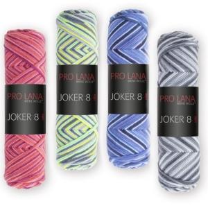 Joker 8 color mehrfarbiges Häkelgarn aus reiner Baumwolle NM14/8 (Farbe: Blautöne (533))