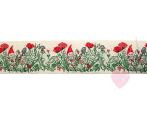 Jacquard - Webband Zergenwiese 42mm (Farbe: creme)