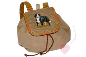 Handgefertigter Kinderrucksack mit Hunde-Motiv für Kinder bis ca. 5 Jahre