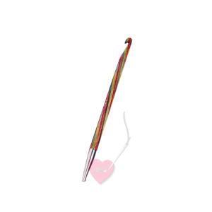 KnitPro - Häkelnadel aus Symfonie-Holz für Wechselsystem für tunesisches Häkeln und mehr (Nadelstärke: 3,50mm)