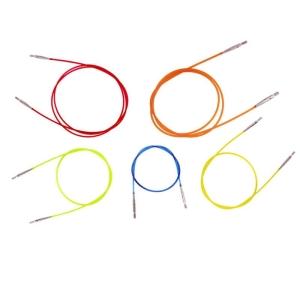 KnitPro farbiges Nadelseil für Wechselspitzen (Länge: 100cm (rot))
