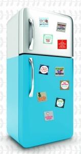 strickimicki - Kühlschrankmagnete mit flotten Sprüchen für Kühlschrank und Magnetwand (Spruch: Nicht jetzt, Schatz Ich stricke)
