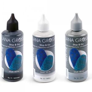Lana Grossa Stop & Go - flüssige Latexmilch für Sohlen (Farbe: grau)