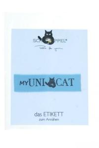 Schoppel Wolle- Label My UniCat Etikett zum einnähen