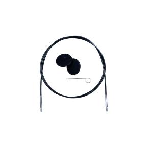 KnitPro Nadelseil für Wechselspitzen schwarz (Länge: 60cm)