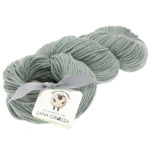 Lana Grossa Slow Wool Lino - Merinowolle mit Leinen (Farbe: pastelltürkis/mint)