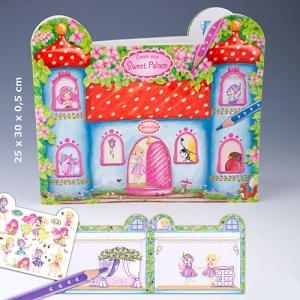 Trixibelles Create your Sweet Palace - Malbuch und Stickeralbum von Depesche