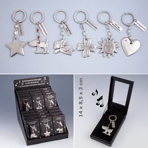 Schlüsselanhänger mit lieben Wünschen in der Geschenkschachtel (Motiv: Stern mit Anhänger Mein Stern)