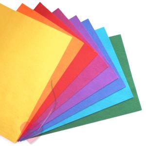 Wollfilz aus 100% Wolle 1mm in leuchtenden Farben Meterware (Farbe: gelb)