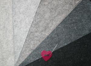 Wollfilz aus 100% Wolle 1mm in 10 Naturtönen als Meterware (Farbe: wollweiß meliert)