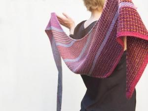 Rosy Green Wool Anleitung - Tuch Colourblind von Jana Huck