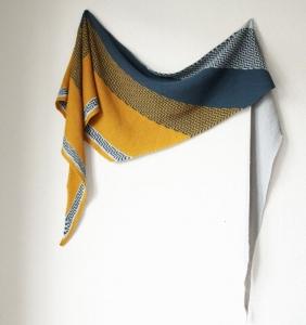 Rosy Green Wool Anleitung - Tuch La Crau von Melanie Berg