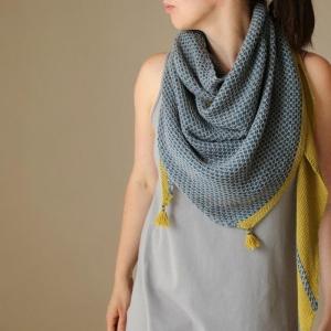 Rosy Green Wool Anleitung - Tuch Helgoland von Melanie Berg