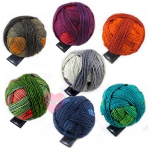Schoppel Wolle Gradient - Merinogarn mit langem Farbverlauf (Farbe: Indian Summer)
