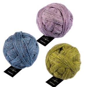 Schoppel Wolle ALB Lino - heimische Wolle trifft Leinen (Farbe: Schwarzmelange)