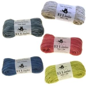 Schoppel Wolle El Linio - Bändchengarn 100% Leinen (Farbe: Schwarzarbeiter)