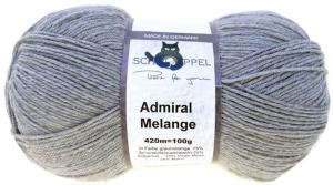 Schoppel Wolle Admiral 4-fach Melange Sockengarn (Farbe: Graumelange)