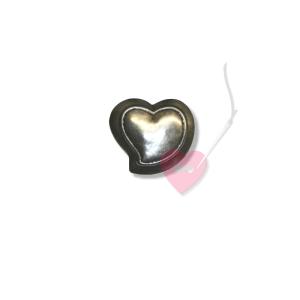 Herzknopf mit Öse in zwei Größen (Größe: 20mm)