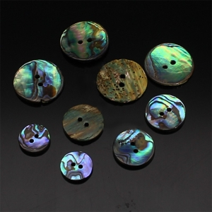 Perlmuttknopf Abalone rund, natur (Größe: 20mm)