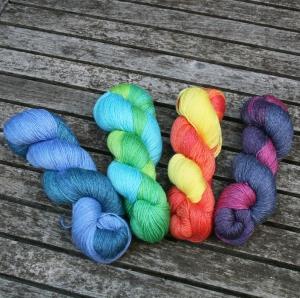 Turin handgefärbt multicolor mit Seide und Ramie (Farbe: Bergsee (T10))
