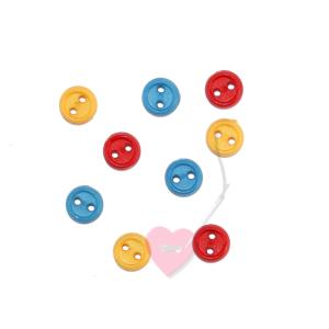 kleiner 2-Loch Knopf Konfetti - Puppenknopf 6mm (Farbe: schwarz)