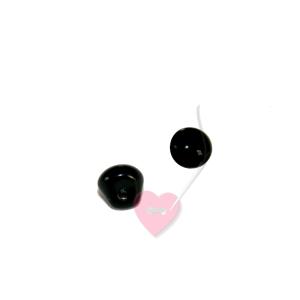 Auge für Amigurumis - kleiner Knopf mit Öse 8mm oder 10mm (Größe: 8mm)