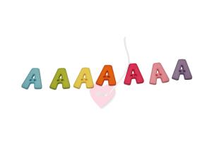Buchstabenhits für Kids 18mm - 2-Loch Knopf A (Farbe: grün)
