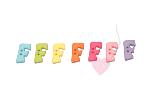 Buchstabenhits für Kids 18mm - 2-Loch Knopf F (Farbe: grün)