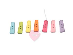 Buchstabenhits für Kids 18mm - 2-Loch Knopf I (Farbe: grün)