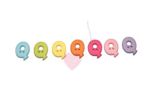 Buchstabenhits für Kids 18mm - 2-Loch Knopf Q (Farbe: grün)