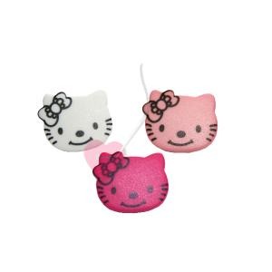 Knopf Kitty Katzengesicht 18mm - Knopf mit Öse (Farbe: weiß)