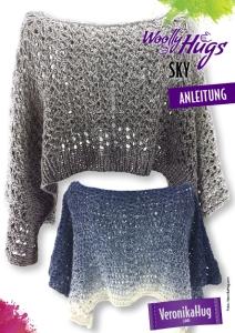 Woolly Hugs Anleitungs Flyer Sky- Überwurf Light