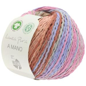 Lana Grossa Linea Pura - A Mano GOTS 100% Bio-Baumwolle (Farbe: 008  Natur/Beige/Mokka/Hellgrau/Royal/Marine)