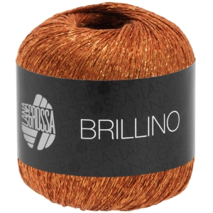 Lana Grossa Brillino - glitzerndes Beilaufgarn (Farbe: 0006 grau/silber)