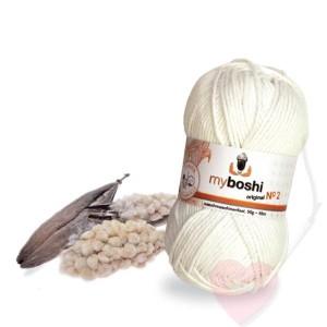 myboshi No. 2 Sommerliches Baumwollgarn aus organic cotton mit Kapok (Farbe: avocado)