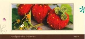 Postkartenanleitung Erdbeeren aus dem Strickatelier capstatt