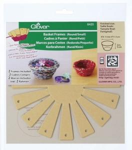 Clover Korbrahmen - in 2 verschiedenen Größen und 3 Formen für selbstgemachte Körbe (Form/Größe: rund, klein)