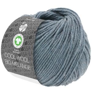 Lana Grossa Cool Wool Big Melange GOTS (Farbe: blaugrün meliert)