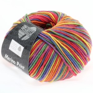Lana Grossa Cool Wool print - kuschelweiches Merinogarn (Farbe: 0792 Hellgrau/Mint/Flieder/Blassrosa)