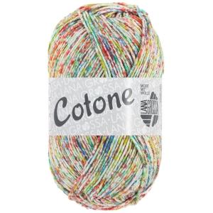 Lana Grossa Cotone Spray - mehrfarbiges, feines Baumwollgarn (Farbe: 457 Rotviolett-Apricot bunt AUSLAUFEND)