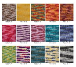Pro Lana Basic Cotton color - mehrfarbiges, feines Baumwollgarn (Farbe: 80 Braun-Silber)