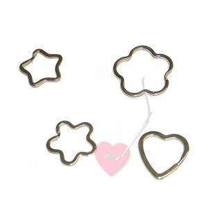 efco Schlüsselringe in Herz-, Blüten- oder Sternform- für selbstgemachte Schlüsselanhänger und Schlüsselbänder (Form und Größe: Herz ø32mm)